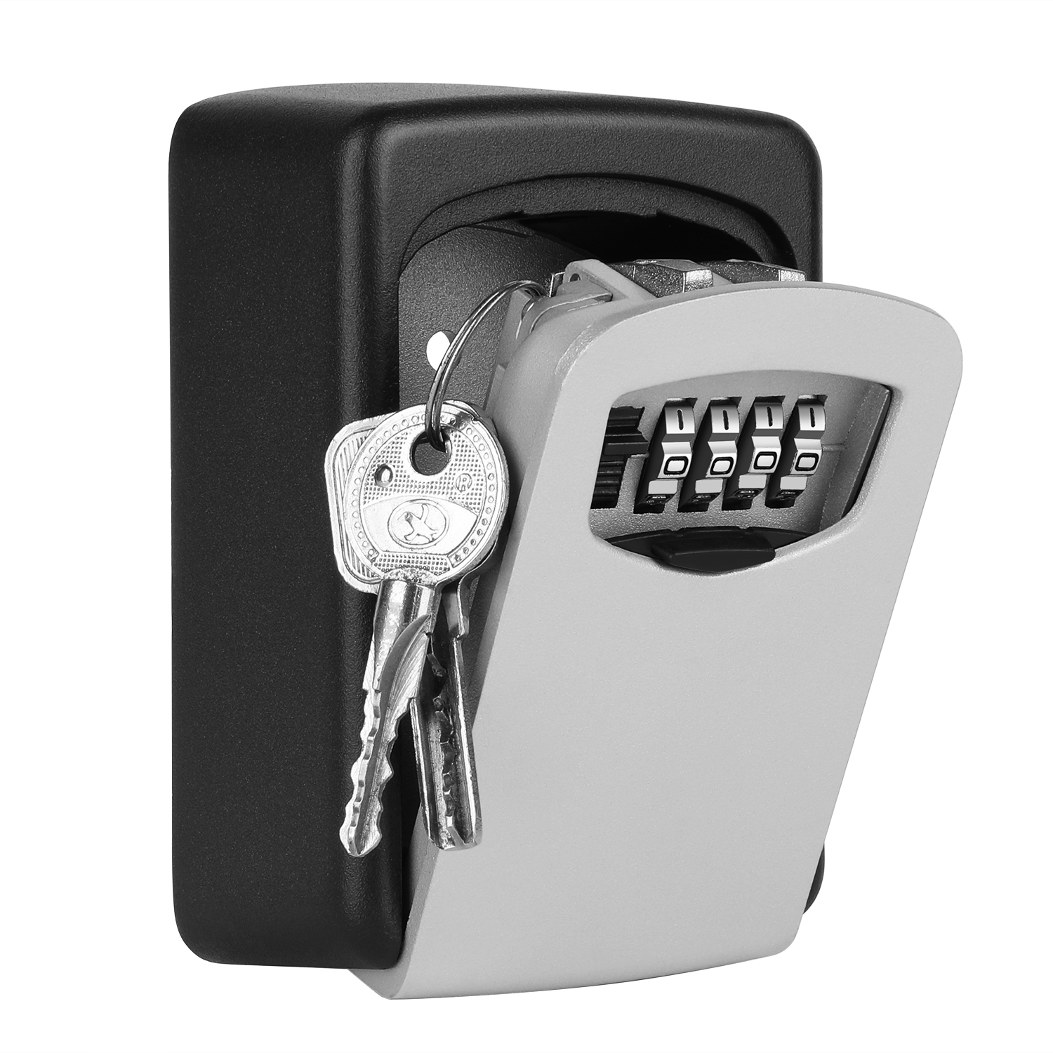 4 Digit Combination Key Lock Box Hide Key Safe Lock Box for Outdoor Wall Mounted Key Storage Boxes Every Trade