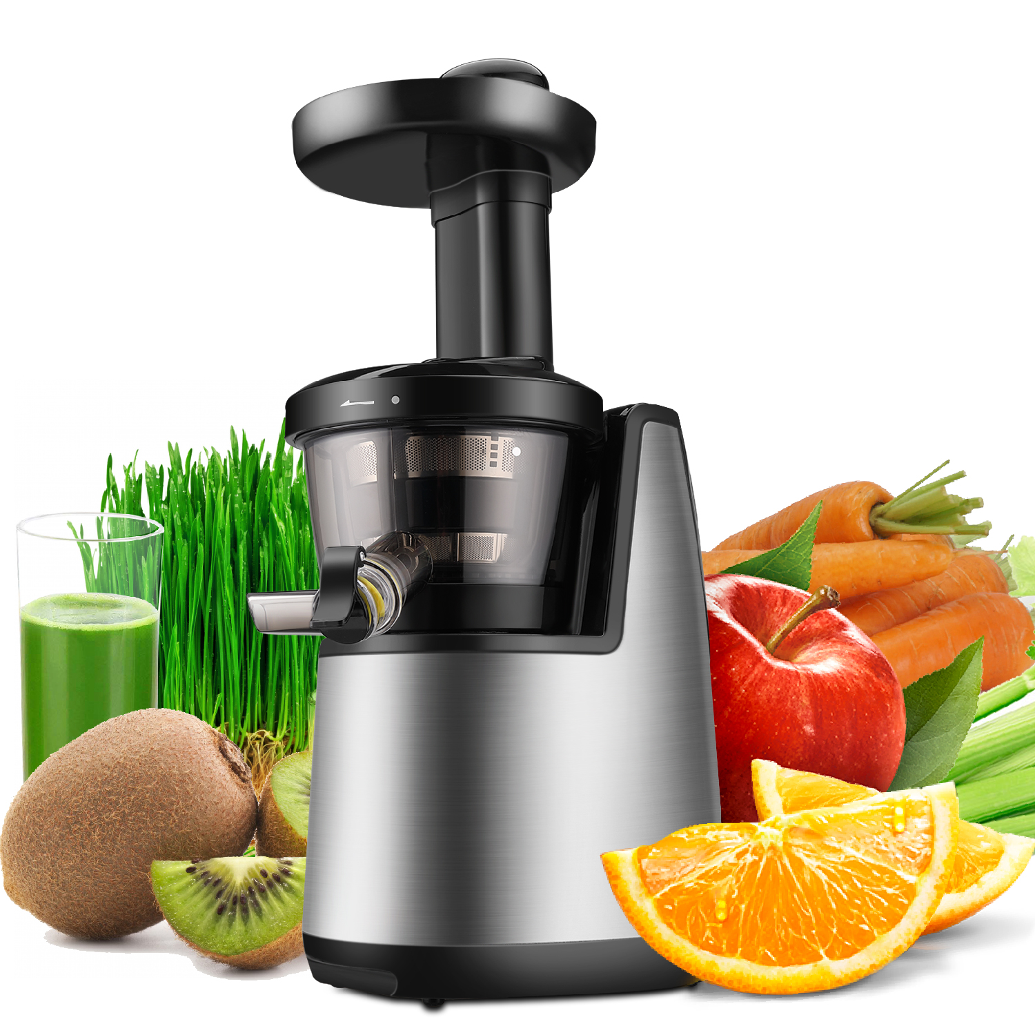 Details about Cold Press Juicer Machine Masticating Slow Juice Extractor Maker Fruit Vegetable