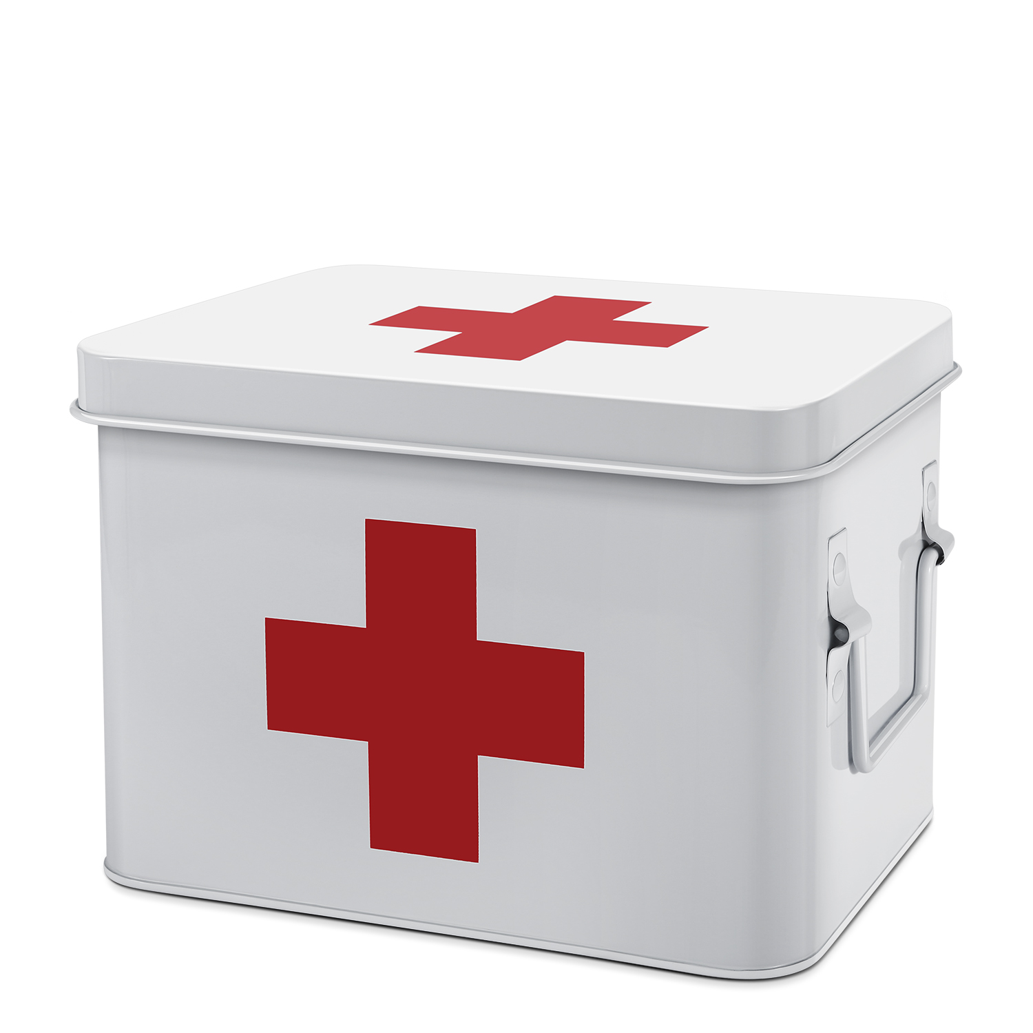 First Aid Medicine Box Supplies Kit Organizer With Removable Tray Decor White Ebay