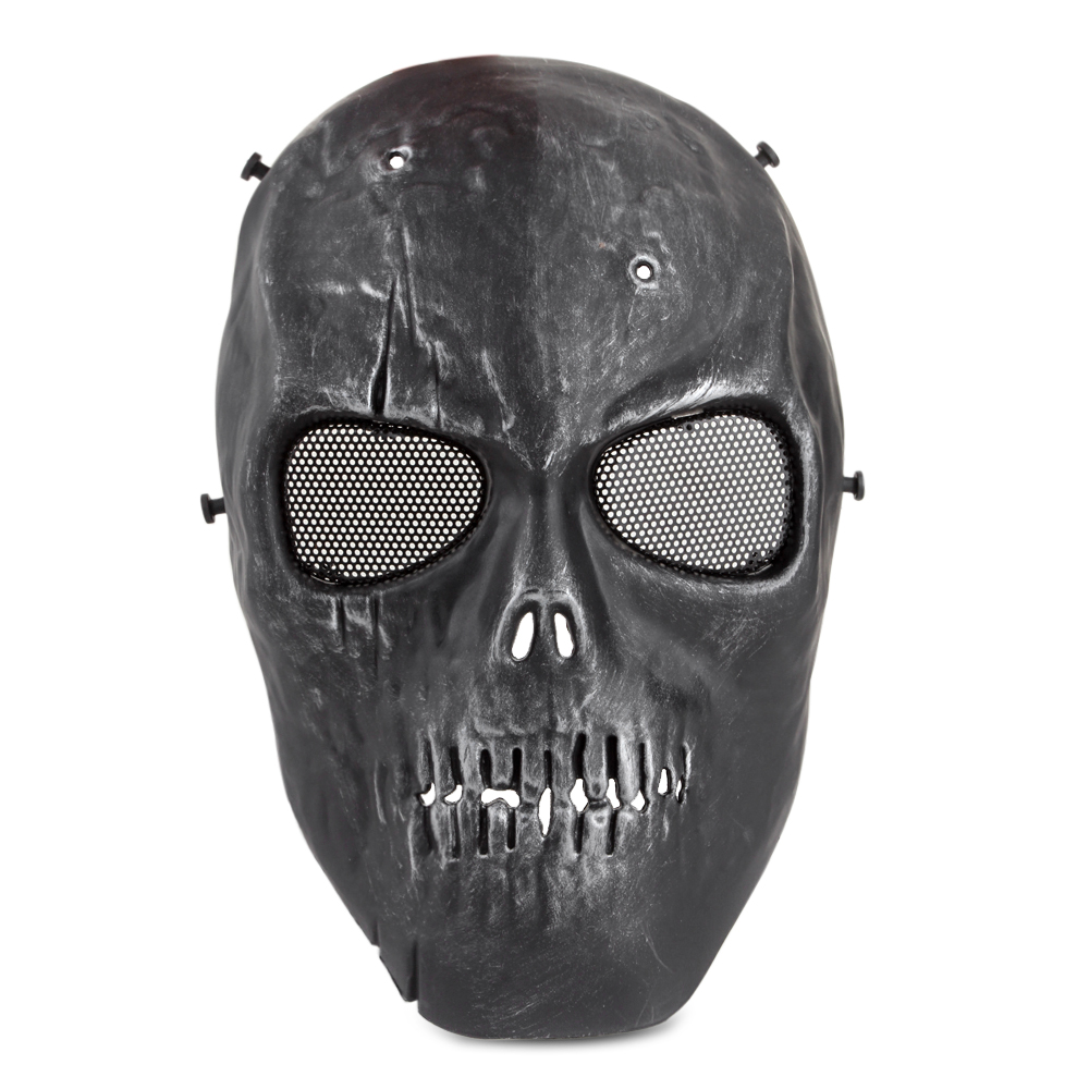 Skull Skeleton Airsoft Gioco Hunting Biker Half Face Protect Gear Mask GuaCRWFI