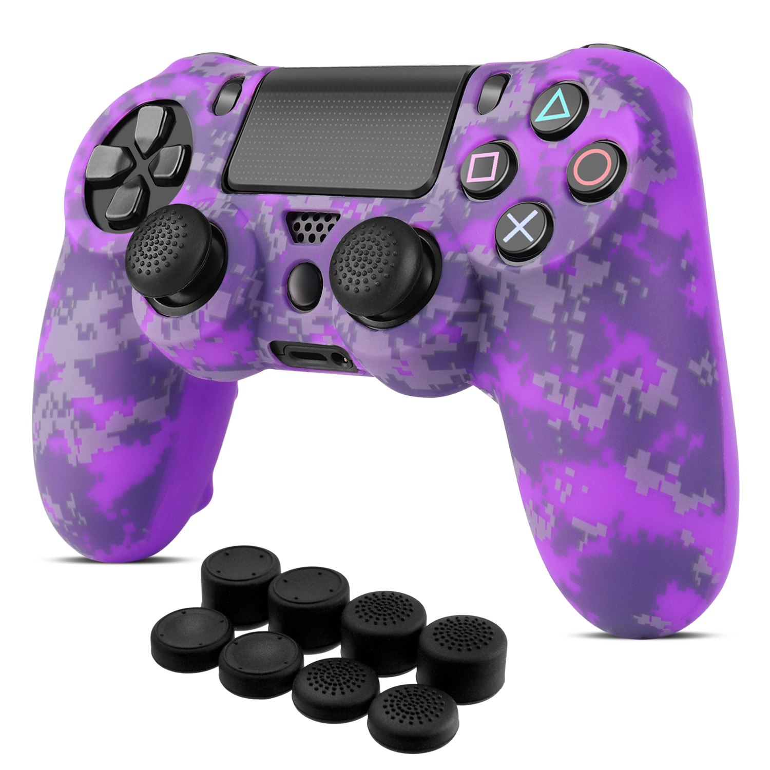 Silicone Rubber Soft case Gel Skin Cover for Sony Playstation 4 PS4 Controller-Purple