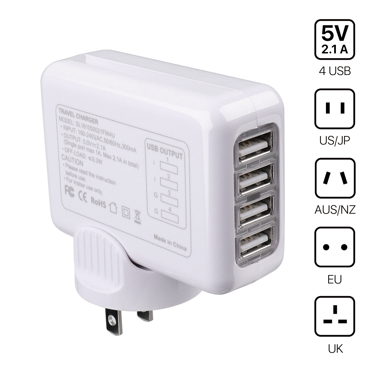 All in One International Universal Power Adapter Converter 2 USB Charging Port