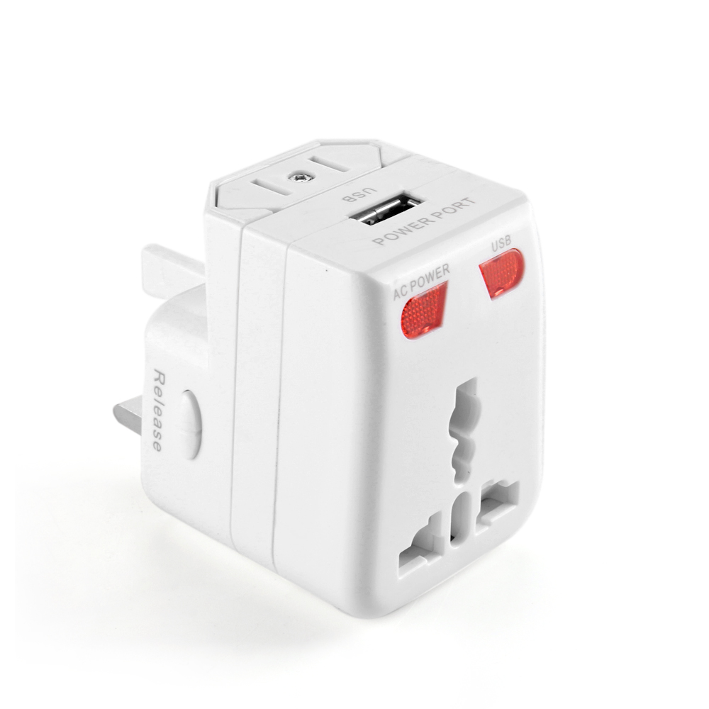 US Wall Travel Power Charger Wall AC Adapter Plug for AU UK EU WORLDWIDE