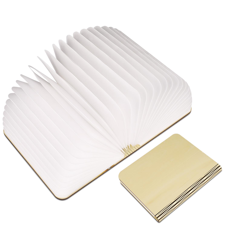 Rechargeable Book Shape LED Night Light Foldable Table Lamp USB Desk light OR