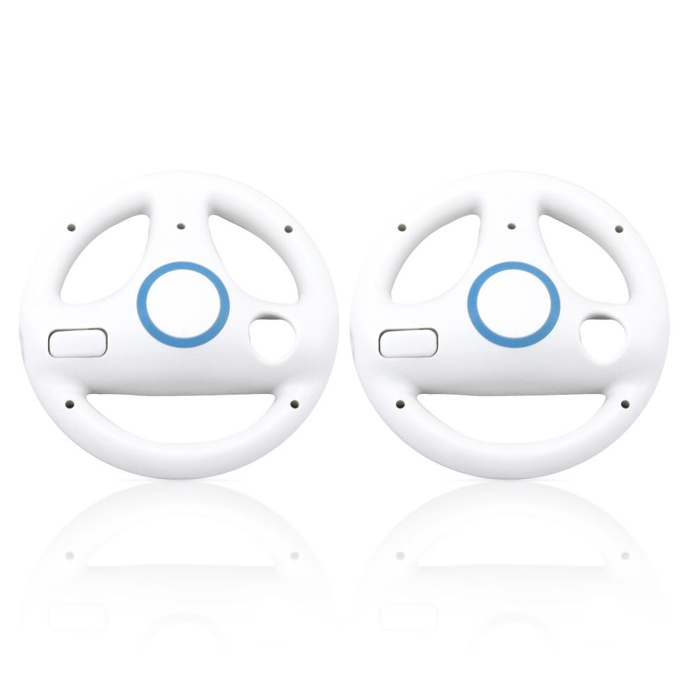 steering wheel for nintendo wii motion plus remote controller 2 pack white ebay