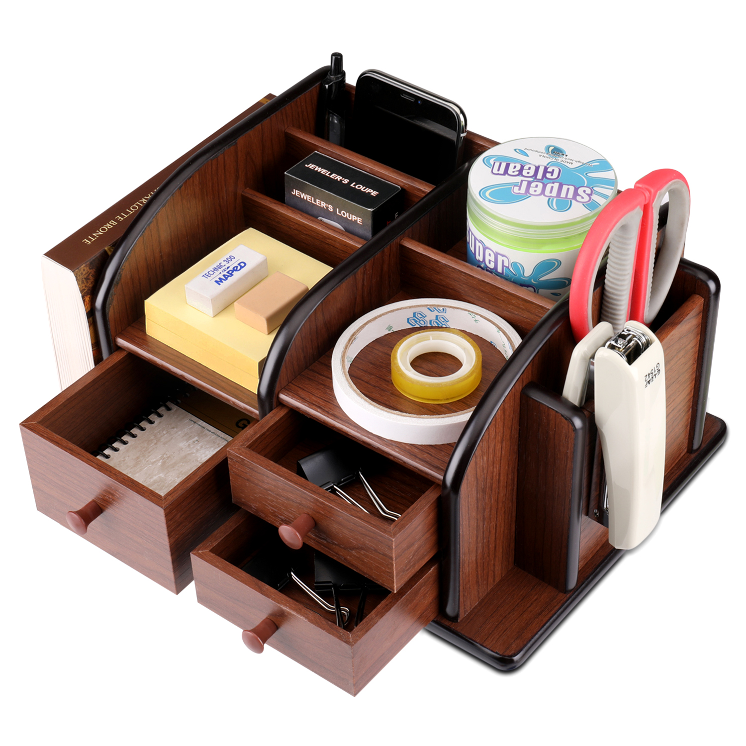 Multi-Functional Compartments - Put all your office supplies and stationery in the multi compartments of well-thought out dimensions and keep your desktop / tabletop tidy and clutter-free
