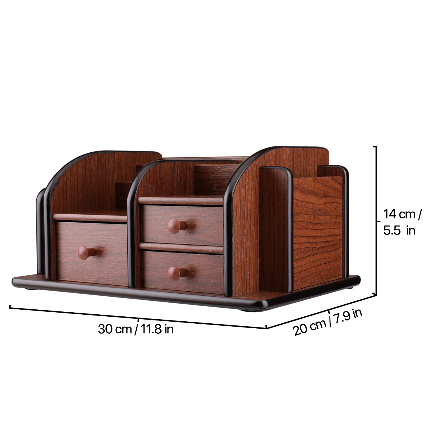 Tough & Durable - Made of sturdy & solid wood base material with a classic cherry brown finish for an elegant touch; Lightweight yet strong and dent-resistant provide maximum protection and usability