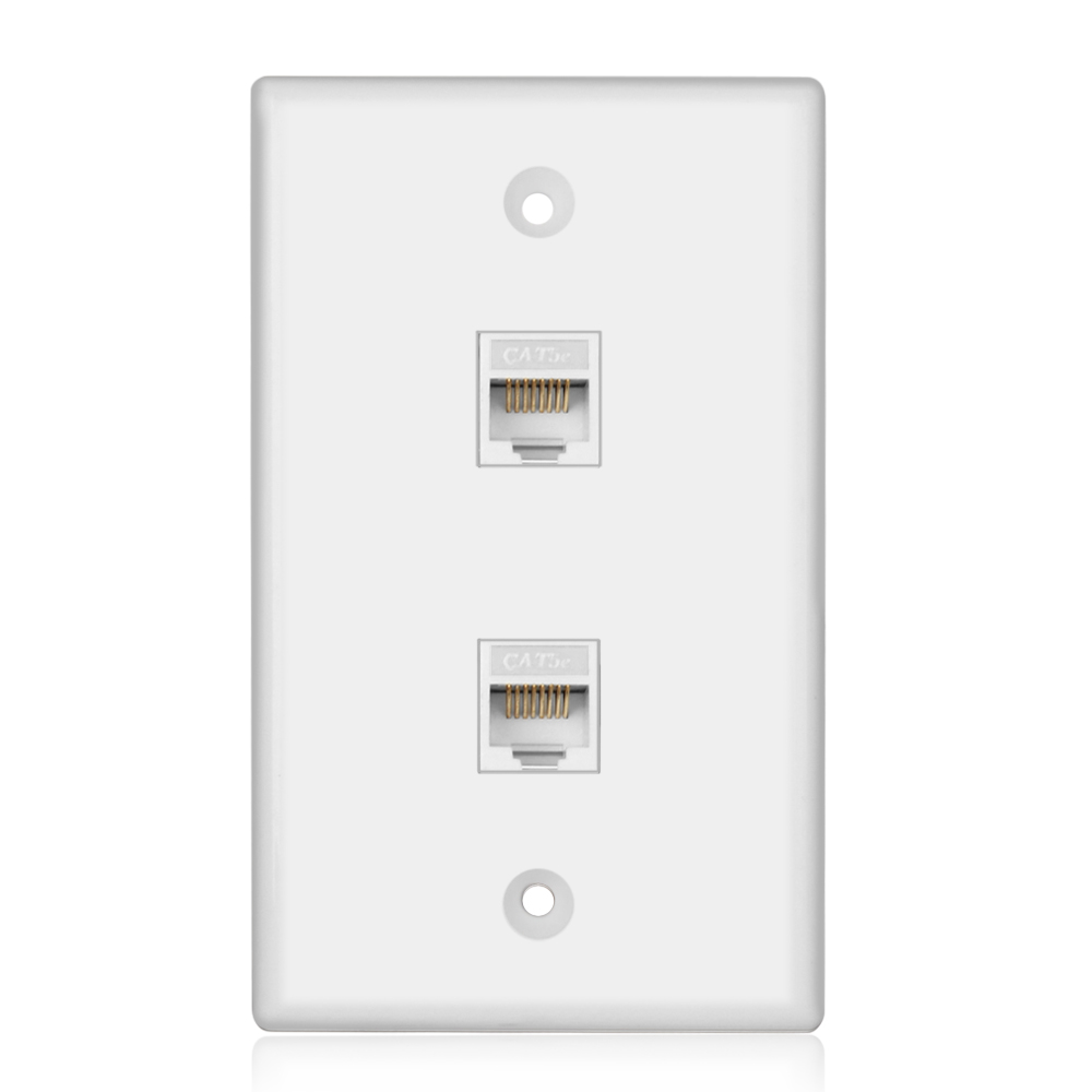 Ethernet Network Wall Plate Rj45 Socket Port Wiring Plug