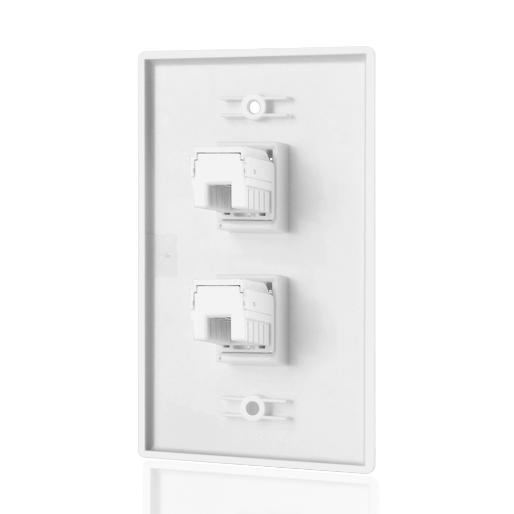 Wiring Rj45 Wall Plate Everything About Diagram Network 2 Port Cat5e Ethernet Female Connect