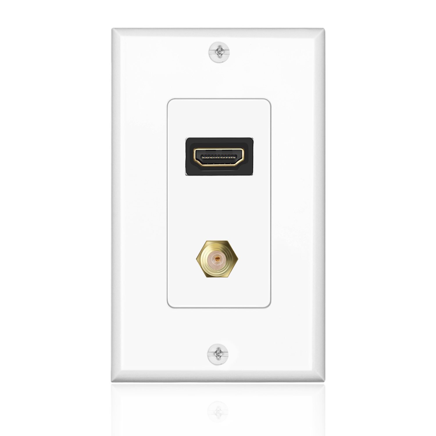hdmi   f connector wall plate face cover 4k 1080p outlet